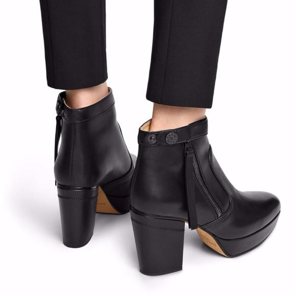 ACNE Black Platform Ankle Boots , Never Worn